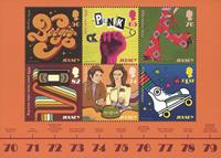 Jersey - La culture populaire des années 1970 - Bloc-feuillet neuf 6v
