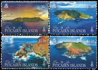Îles Pitcairn - Îles Pitcairn vues du ciel - Série neuve 4v