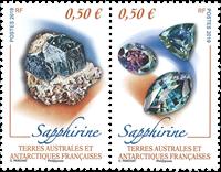 Fransk Antarktis - Safir - Postfrisk sæt 2v