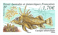 France - Cacique fish - Mint stamp