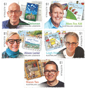 Australia - Writers of books for children - Mint set 5v