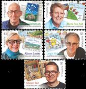 Australien - Børnebogsforfattere - Postfrisk sæt 5v