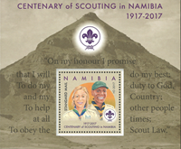 Namibie - Scouts - Bloc-feuillet neuf