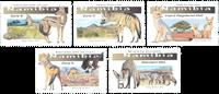 Namibia - Små vildhunderacer - Postfrisk sæt 5v