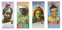 Papouasie Nlle Guinée - Visages 2018 - Série neuve 4v