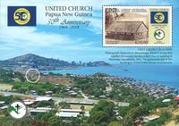 Papouasie Nlle Guinée - Eglise - Bloc-feuillet neuf 1v
