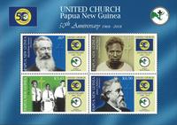 Papouasie Nlle Guinée - Eglise - Bloc-feuillet neuf 4v