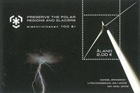 Åland - Centenaire d'électricité / énergie éolienne - Bloc-feuillet neuf