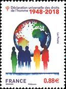 Frankrig - Menneskerettigheder - Postfrisk frimærke
