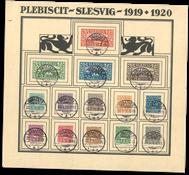 Slesvig - 1920 opsat på ark
