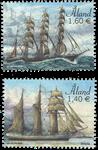 Åland - Sejlskibe 2019 - Postfrisk sæt 2v