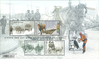 Belgium - Animals at work - Mint souvenir sheet