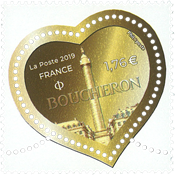 France - Fashion mark Boucheron heart coin illustration - Mint stamp