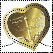 France - Mode Boucheron coeur monnaie - Timbre neuf