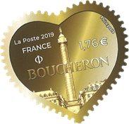 Frankrig - Modehuset Boucheron møntmotiv - Postfrisk selvkl.frimærke