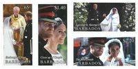 Barbados - Royal Wedding Prince Harry - Postfrisk sæt 4v