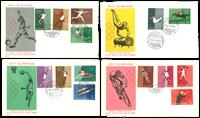 Saint-Marin - 4 enveloppes - Jeux Olympiques