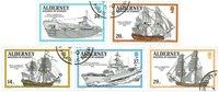 Alderney - Krigsskibe 1990 - stemplet