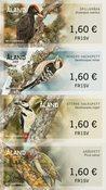 Åland - Piverts les Picidés - Série neuve de timbres distributeurs
