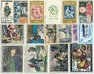 Francia - 17 sellos nuevos y una viñeta