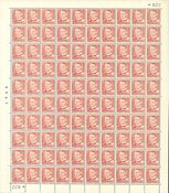 Danmark - AFA 307a postfrisk helark