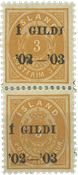 Island - AFA 23B parstykke ubrugt