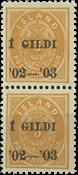 Islande - AFA 23B postfrisk parstykke
