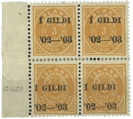 Island - AFA 23B 4-blok ubrugt