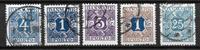 Danmark  - Po. 5 div - Stemplet