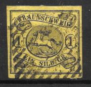Braunschweig 1853 - AFA 6a - Stemplet
