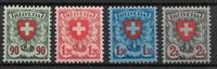 Schweits 1924 - AFA 213-216 - Postfrisk