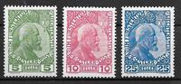 Liechtenstein 1912 - AFA 1-3 - Neuf avec charnière
