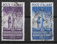 Italia 1950 - AFA 716-717 - Leimattu