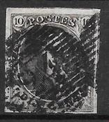 Belgique 1848 - AFA 3a - Oblitéré
