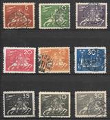 Suède 1924 - AFA 174-183 - Oblitéré