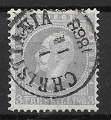 Norvège 1856 - AFA 3 - Oblitéré