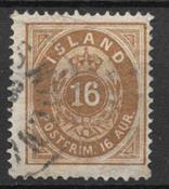 Islande 1875 - AFA 9 - Oblitéré