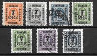 Danmark 1926 - AFA 160-166 - Stemplet