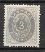 Danmark 1875 - AFA 22a - Ustemplet
