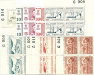 Grønland - 18 forskellige marginal 4-blokke, postfriske