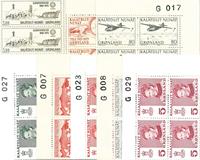 Grønland - 10 forskellige marginal 4-blokke, postfriske