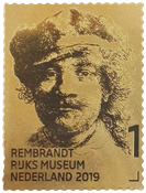 The Netherlands - Rembrandt gold stamp - Mint stamp
