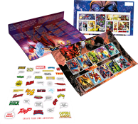 Great Britain - Marvel Superheroes - Presentation Pack with set and s/s