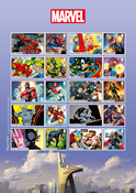 Great Britain - Marvel Superheroes - Mint sheet adh.