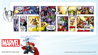 Great Britain - Marvel Superheroes - Souvenir Sheet - First Day Cover