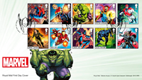 Great Britain - Marvel Superheroes - First Day Cover w/set