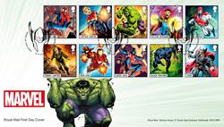 Grande-Bretagne - Marvel Super-héros - Enveloppe 1er jour avec série