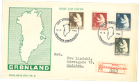 Grønland - FDC med isbjørn AFA 58-61 1963