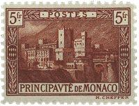 Monaco - 1922 5 Fr. marron