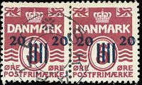 Færøerne - Provisorie AFA 3 i stemplet parstykke